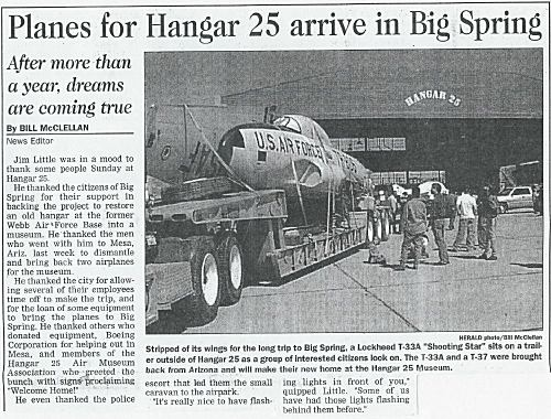 T-33 Shooting Star newspaper article
