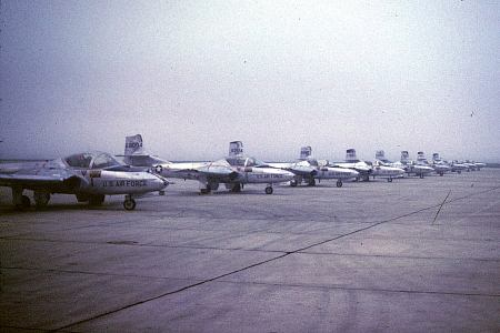T-37s on the flightline